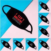 Großer Vorrat I Cant Breathe Gesichtsmasken Waschbar Cotton Masken Schwarz Lives Matter Masken Modedesigner Maske für Erwachsene DHL FY9131