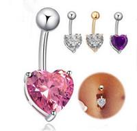 Moda Mulheres Crystal Rhinestone piercing jóias umbigo elegante Umbigo Anéis Body Piercing jóias charme