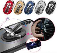 Car Mount 2 in 1 Air Vent Holder Grip Multipurpose 360 Degree Rotation Stand Rotating Magnetic Finger Ring Phone Holder Bracket
