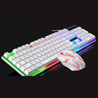 Tastiera Mouse Combos G21 USB Set cablato LED Rainbow Color Gaming Computer