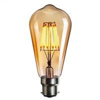 Dimmable 6W ST64 Retro Edison LED Bulb B22 Cage Type Retro COB LED Bulb 220V Home Decoration Lighting