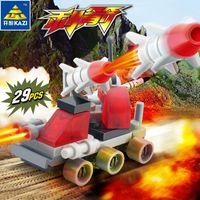 4 DIY pour les jouets de voiture Bâtiment Enfants pour Blocs Enfants Mini Mini Briques Militaire Transport militaire Modèle Styles Garçons Educational 04 Amino