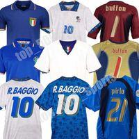 Coppa del Mondo Retro Italia 1990 2000 Home Football Soccer 1994 Jersey Maldini Baggio Donadoni Schillaci Totti del Piero 2006 Pirlo Inzaghi Buffon
