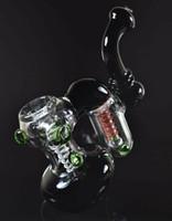 Polegadas de vidro Tubulação de fumo SoulGlass Água Bubbler duas câmaras Liso Sprial Recycle feita por ordem só OEM pode colocar seu logotipo em