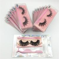 3D vison cílios por atacado 15 estilos 3d mink cílios Natural grossos macios mink cílios extensão maquiagem macio olho falso olho cílios com pinça