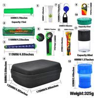 12er Tabakbeutel Set Kunststoff Rauchen Grinder Vorratsdose Metalldose Silikon-Pfeife One Hitter Dugout Rollmaschine Meer GGA3745