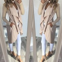 Trench Coats Natural Color Long Sleeve Casual Coat Luxury Womens Trench Coats Designer Ruffle V Neck