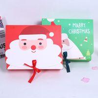 Noel Büyük Hediye Kutusu Santa Peri Tasarım Papercard Kraft Günümüze Parti Favor Aktivite Kutusu Kırmızı Yeşil EEA684-A