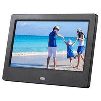 2020 شاشة 7 بوصة LCD الإطار HD LED الخلفية الالكترونية الصور الرقمية صورة اغاني فيلم فيديو كامل وظيفة هدية جيدة