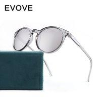 Óculos de sol Evolva homens redondos mulheres transparentes óculos de sol para macho pequeno rosto estreito vintage máscaras feminina