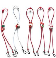 Natale Mask Cordino regolabile Lunghezza Maschera Extender Strap Cartoon Babbo Natale Anti-perdita titolare Maschera corda Favore di partito GGA3744-1