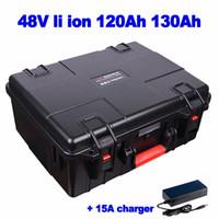 de polímero de litio banco de la energía li ion de 48V 120Ah 130Ah batería para barrendero EV RV AGV triciclo solar fuera de la red de camiones de comida