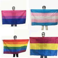Regenbogen-Flagge Bunte LGBT Stolz-Flaggen Lesben Homosexuell Bisexual Transgender LGBT Stolz freundliche Banner Festival-Party-Dekoration VT1456