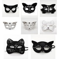 Половина Cosplay маски Halloween Этап Performance Реквизит Lace Sexy Женский животных Cat Face Christmas Party Mask Dropshipping F2001