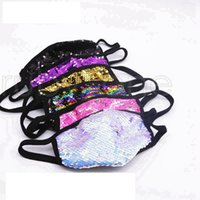 Sequin Glitter Masks Respirator Bling Bling Unisex Dustproof Mouth Cover Fashion Washable Silk Protective Mask Outdoor Cotton Masks RRA3475