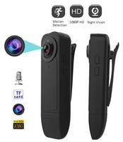 A18 Mini caméra Full HD 1080P Mini DV avec poche clip support carte TF caméra de sécurité portable enregistrement vidéo instantané de nuit Cam