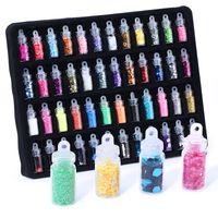 48 Garrafas / Set Nail Art strass Beads Sequins Glitter Powder Manicure Decoral Dicas Nail Polish Adesivos Misturado Design caso de Se