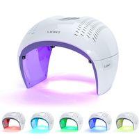 7 cor PDT LED Terapia de Luz Cuidados Faciais Anti-Envelhecimento Máquina de Terapia de Photon LED Red Light Tratamento Beleza Equipamento
