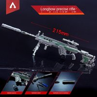 Anahtarlıklar Apex Kahraman Oyunu Periferik Anahtarlık 21 cm Silah Modeli Garaj Kiti Elektrolizle Metal Dekorasyon Hediye