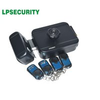 433MHz Wireless Remote control Electronic Rim Lock Electronic motor lock with remote handle use AA Battery Key optional