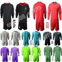 2021 niños manga larga equipo nacional fútbol de gea portero de fútbol Jersey Iker Casillas Kit de alejamiento de los juegos uniforme