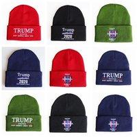 Chapéus Trump Chapéus Crânios de inverno Caps 20 estilos Donald Trump Re-eleitor Beanie Beanie Bordado EUA Boné Casual Beanie Inverno Quente Chapéu OOA8351