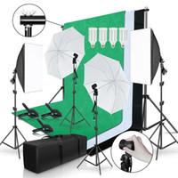 Accessori per illuminazione Accessori da studio PO 2x3m Sfondo Telaio con 3pcs Backdrop Pografia leggera Softbox Rifletti Ombrello Treppiede Stand