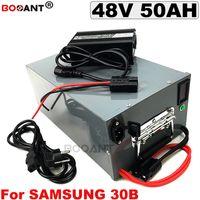 Bafang BBSHD 1500W 2000W Motor için Samsung ICR18650-30B hücre e-bisiklet lityum 13S için 48V 50Ah elektrikli bisiklet pil