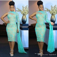2020 New One Shoulder Nigeria Style Evening Dresses High Nec...