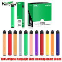 100% первоначально Kangvape Slick Plus Одноразовые устройства Pod Pen Kit 550mAh Батарея 3,5 мл Предварительно заполненные картридж 800 слойка Vape Пустой Pen Аутентичные