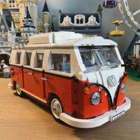 21001 Volkswagen T1 Camper Van Создатель Expert Совместимость с 10220 21001 Строительные блоки Кирпич феррари модель игрушки подарки