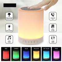 Luce notturna con altoparlanti Bluetooth portatile altoparlanti wireless portatili Touch Control Color LED Lampada da comodino