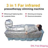 Professional 3 IN 1 Far Infrared pressoterapia dimagrimento muscolare EMS elettrico pressione Stimolazione Sauna Aria macchina Linfodrenaggio corpo