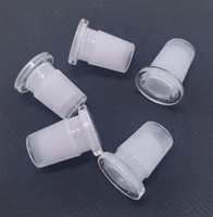 Di vendita caldo bicchiere cannello della pipa Adattatore 18 millimetri maschio a 14mm femmina riduttore Connettore fessura Diffusore per vetro tubo di acqua adattatore Bong