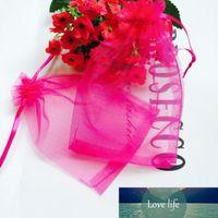 500 шт 11 х 16 см / 4,3 х 6,3 дюйма органзы мешки подарка венчания Ювелирные сумки Ювелирные сумки, пакет 100 Random Color 5Pack / Lot