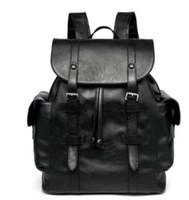 saco de Damier Backpack Toile Macassar Christopher PM Man 41 * 47 centímetros cinza PurseLarge capacidade / saco de couro real dos homens xadrez preto Marca Men Backpack