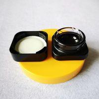Mini Cube vidro Wax Jar 5ml Cubo Quadrado Premium Estilo Jars Grosso Oil Dab Container Criança Tampa resistente GCJ01 Concentrado Jar