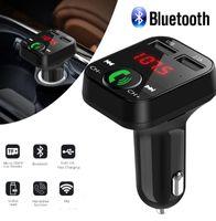 بلوتوث 5.0 FM الارسال سيارة مشغل MP3 المزدوجة USB 2.1A سريع شاحن سيارة مشغل موسيقى FM المغير الصوت تردد الراديو