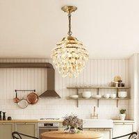 Modern Crystal Copper Pendant Light Living Room Dining Room Bedroom Restaurant Bar Villa Hotel Chandelier PA0582