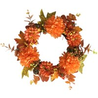 New Halloween Artificial Flower Decor Autumn Color Fruit Pum...