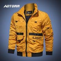 Мужчины Грузовой куртка 2020 осень весна Flight Bomber пальто Мужской Army Green Бейсбол куртка Streetwear Waterpoof пальто