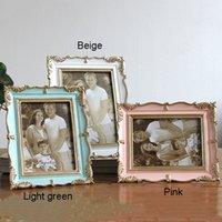 Gül Reçine Fotoğraf Çerçevesi 6 İnç 7 inç Vintage Fotoğraf Çerçevesi Ev Dekorasyonu Retro Ahşap düğün çift Pictures Çerçeveler Hediye Süsleme CY BH1667