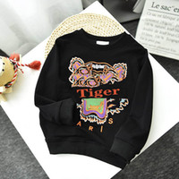 Kindermode Sweatshirts 2020 Tiger Stickerei Tops für Jungen Mädchen Trend Kinder Hoodies Hot Sell