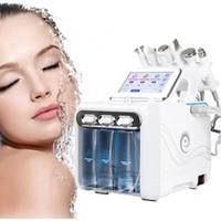 핫 판매 6in1 H2-O2 하이 드라 스킨 하이드로 테라피 스파 얼굴 미세 박피술 기계 감기 망치 산소 제트 아름다움 장비 CE 무료 배송