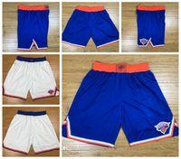 Erkekler New YorkKnicks 6 Porzingis 9 Barrett 33 Ewing 13 Noah Dikişli Şort Vintage Nefes Pantolon Sweatpants Klasik Basketbol Şort