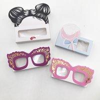 Wholesale caja de embalaje de pestañas falsas 3D Mink Lashes Boxes Caja de pestañas vacías Logotipo personalizado Libre acepta su logo