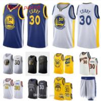 Männer und Frauen Basketball goldenZustandKrieger30 Stephen.Curry Weiß Gelb Schwarz Wingman Sleeveless Jersey und Hose 07