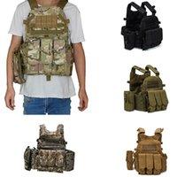 Chaquetas de caza al aire libre 900D Nylon Molle Táctico Chaleco Cuerpo Placa Placa Placer 6094 M4 bolsa de combate MultiCam Acu Camo