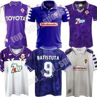 1998 1999 Ретро Fiorentina Soccer Jersey Batistuta Rui Costa Custom Vintage 98 99 Главная Футбольная футболка 2000 CamiSas de futebol 92 93