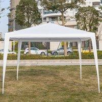 3 x 3m Tenda à prova d'água ao ar livre Devão resistente festa de casamento tenda gazebo pavilion atender eventos 10x10ft branco com tubos espirais